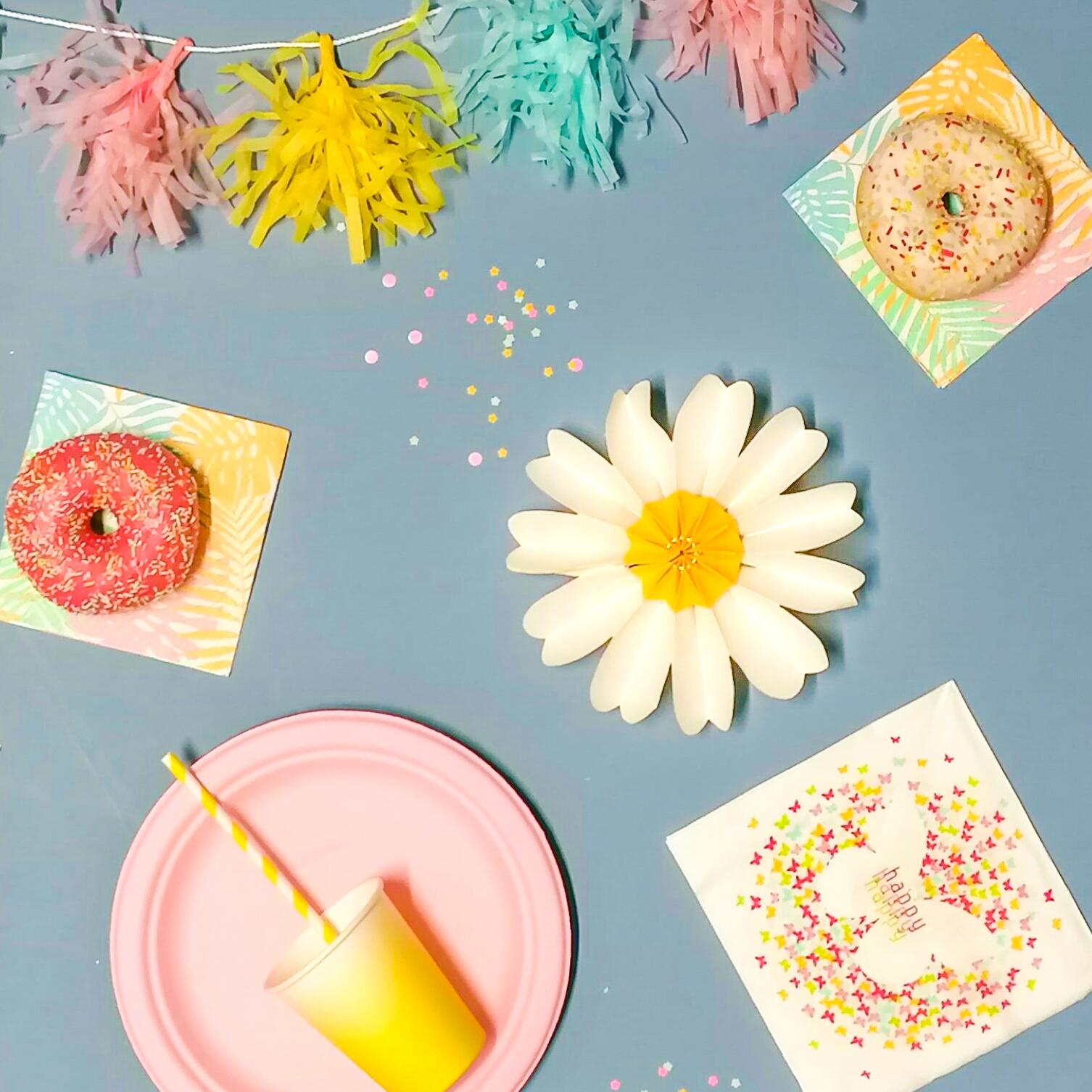 assiette pulpe de canne à sucre colorée pour faire la fête
