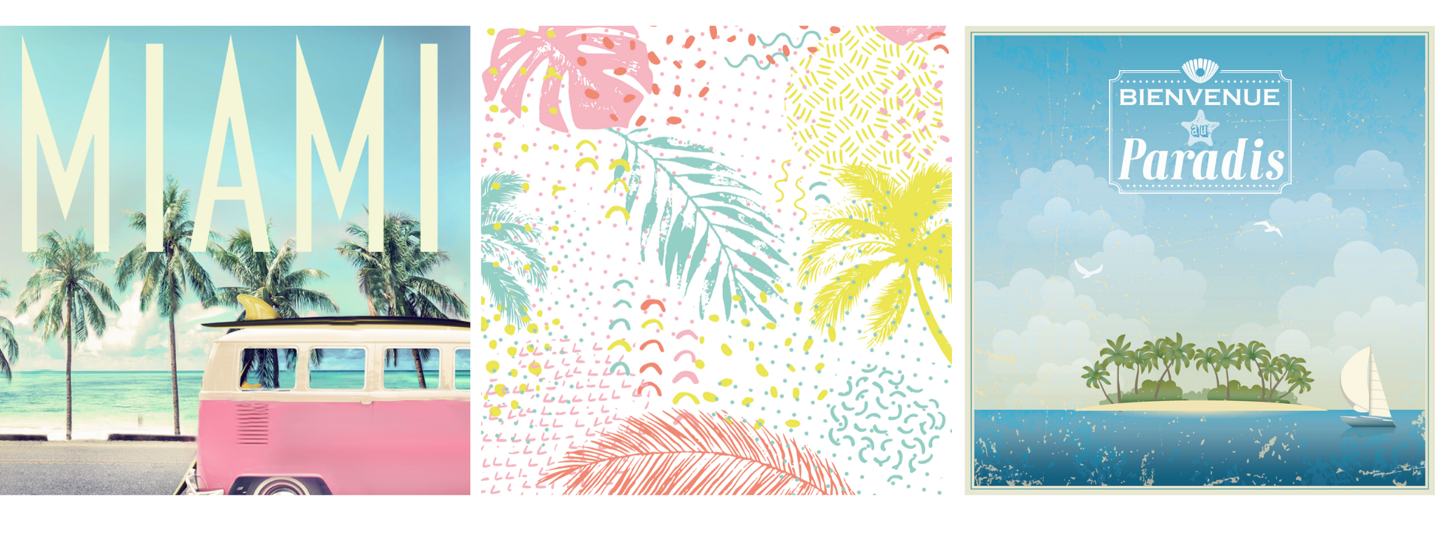 decor serviettes en papier retro beach