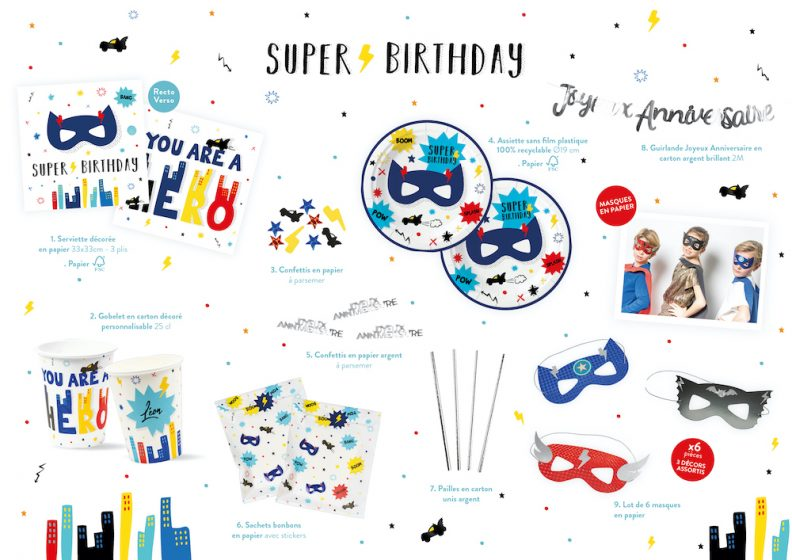 gamme anniversaire super héros