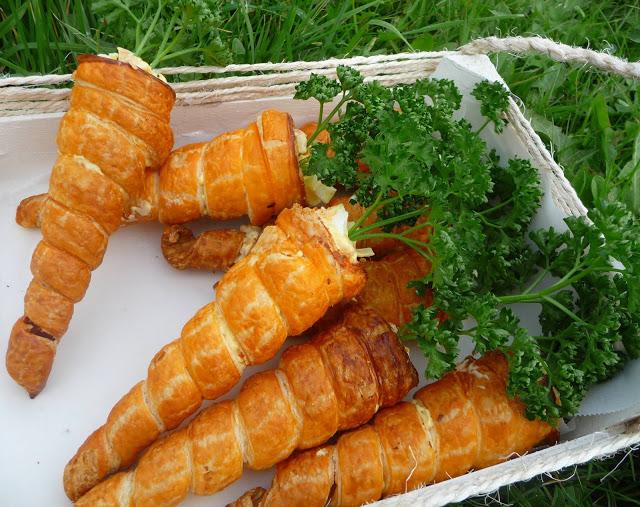 feuilleté aux carottes et surimi