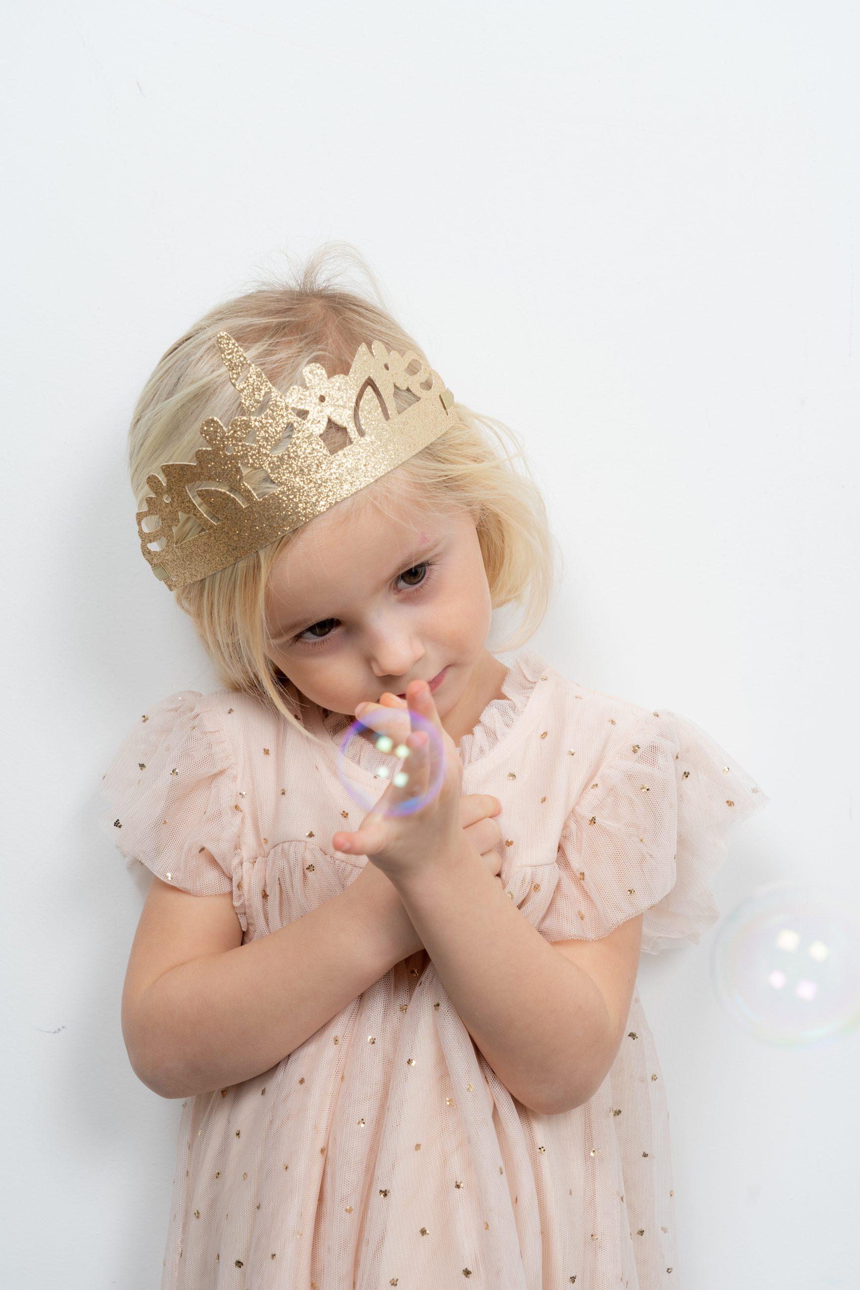 couronne sirène coquillage or doré