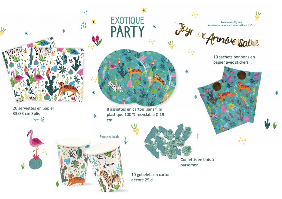 kit anniversaire exotique party