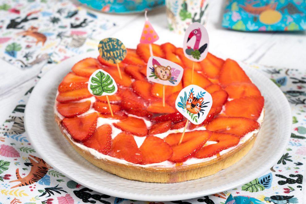 cake topper exotique party à imprimer et à télécharger