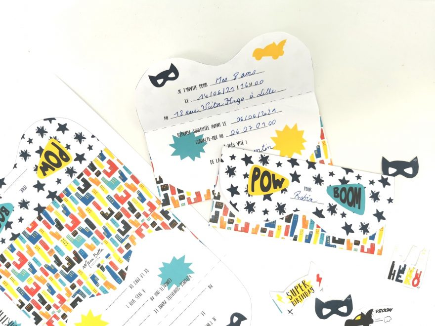 printable invitation anniversaire super héro